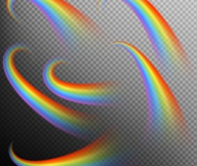Rainbows effect illustration vector 04