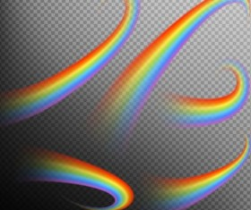 Rainbows effect illustration vector 05