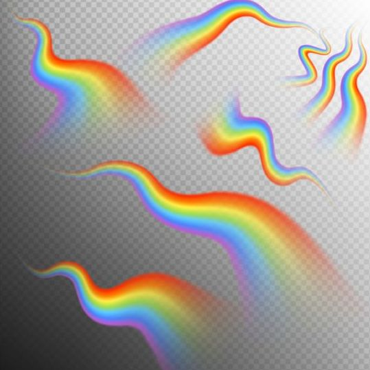 Rainbows effect illustration vector 06