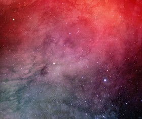 Red Space Watercolor Backgrounds Stock Photo