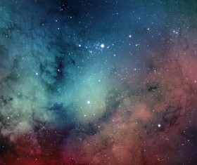 Red and Cyan Space Watercolor Backgrounds HD picture
