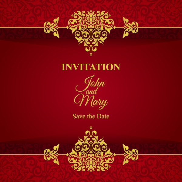 Red with golden invitation template vector 07 vector card free red with golden invitation template vector 07 stopboris Image collections