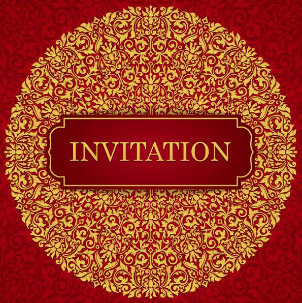 Red With Golden Invitation Template Vector 18 Free Download