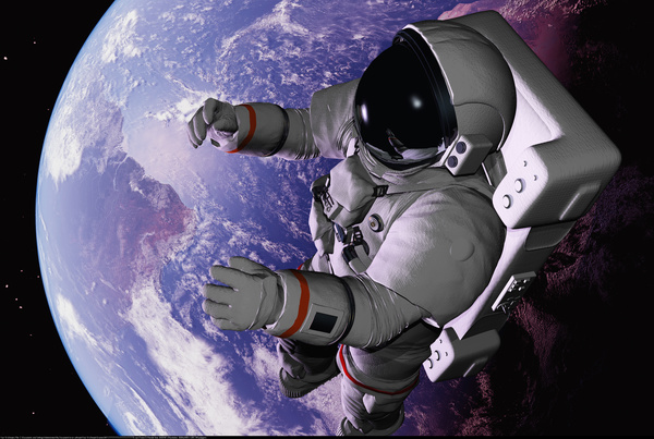 Roaming space and astronauts Stock Photo