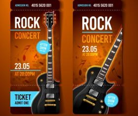 Rock concert tickets template vector 02
