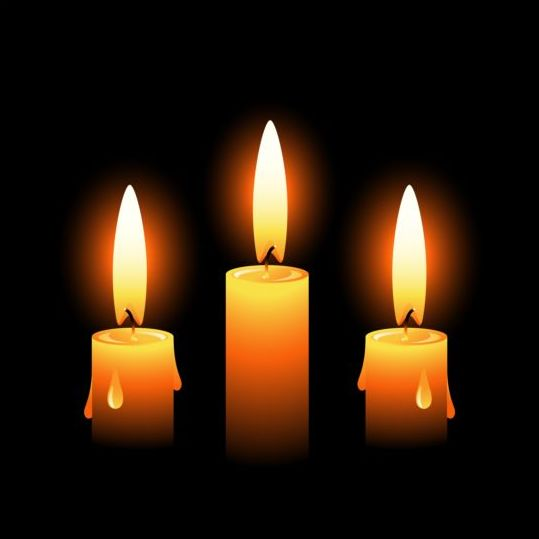 Shining candle with black background vector 03 - Vector ...
