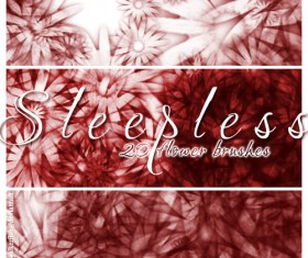 Sleepless floral PS Brushes