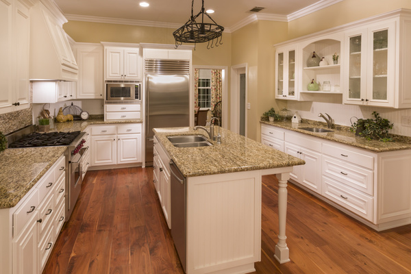 Beautiful Custom Kitchen Interior In A New House Free Download