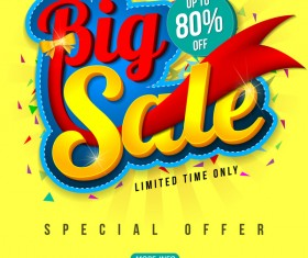 Special offer with big sale poset vector 01