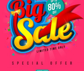 Special offer with big sale poset vector 02