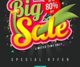 Special offer with big sale poset vector 03