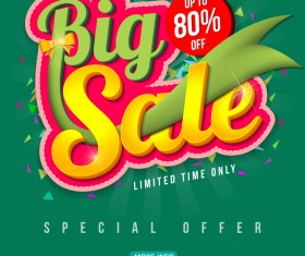 Special offer with big sale poset vector 04