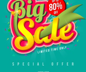 Special offer with big sale poset vector 05