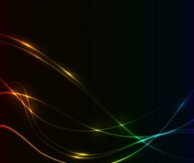 Spectrum colors lines background vector