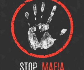 Stop Mafia sign vector
