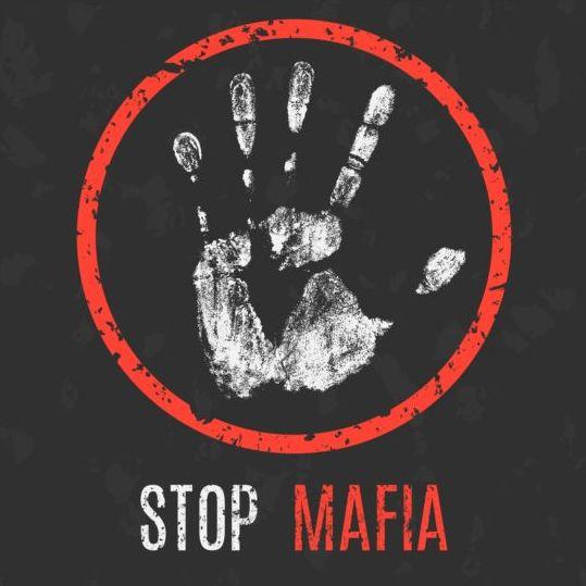 Stop Mafia sign vector