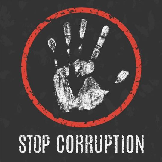 Stop corruption sign vector