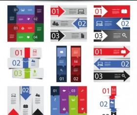 Stripes infographic template vectors 01