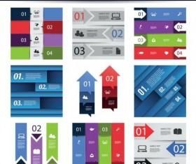 Stripes infographic template vectors 02