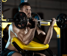 Strong male gym workout biceps HD picture