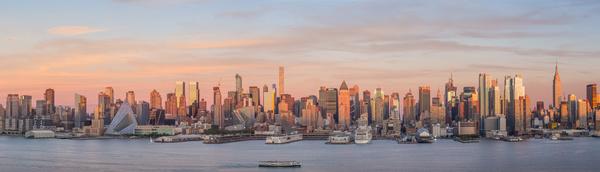 Sunset over the city skyline Stock Photo 09