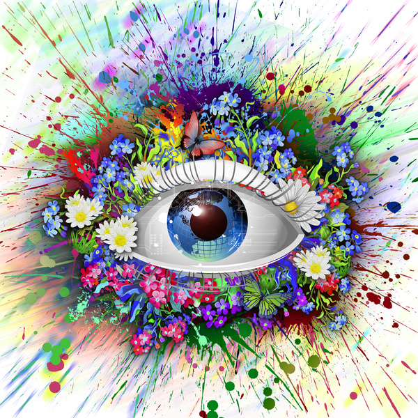 Surround the flowers around the eyes free download