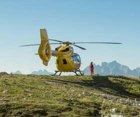 The yellow helicopter was used for rescue operations