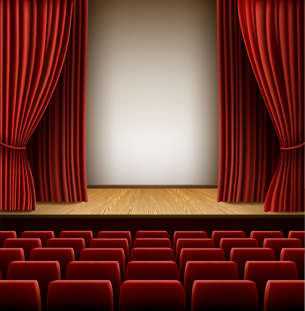 Theater hall red style design vector 03 - Vector Background free ...