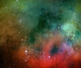 Three Color Space Watercolor Backgrounds