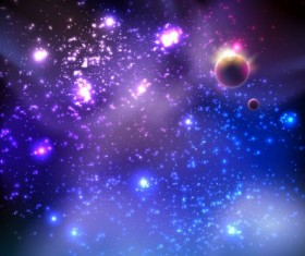 Universe background design vectors