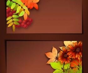 Vector banner with harvest season design
