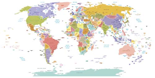 Vector colored world maps template 02 vector maps free download vector colored world maps template 02 gumiabroncs Gallery