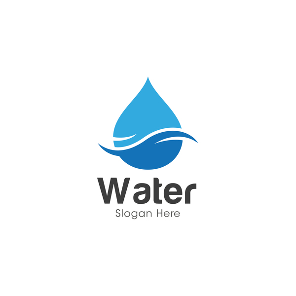 creative water logos design material 01 joy studio