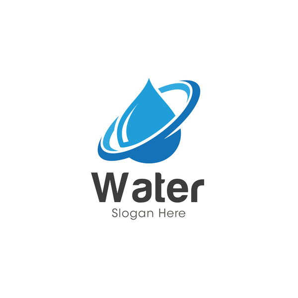 vector water logo design 02 free download