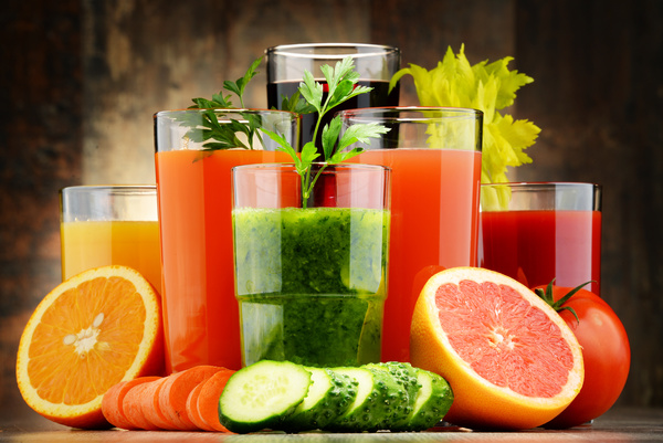 vegetable juice fruit juice and fresh vegetables hd