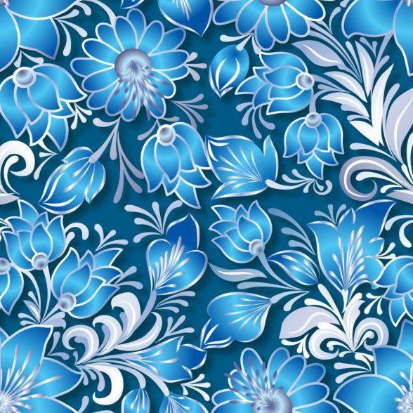 Vintage flower ornament pattern vectors set 11