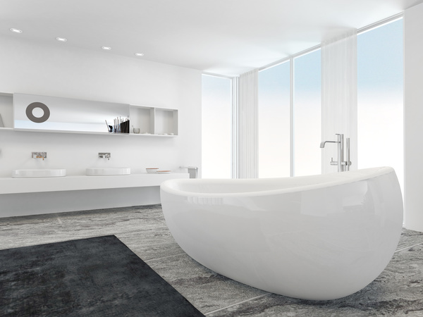 White Background Modern Bathroom Interior Stock Photo Free Download