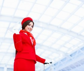 White ceiling under the hand of a paper airplane flight attendants Stock Photo