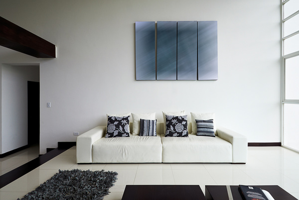 Phenomenal White Minimalist Living Room With White Couch With Black Unemploymentrelief Wooden Chair Designs For Living Room Unemploymentrelieforg