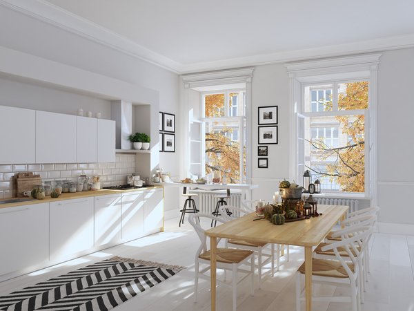 White Simple Nordic Kitchen Stock Photo 02 Free Download