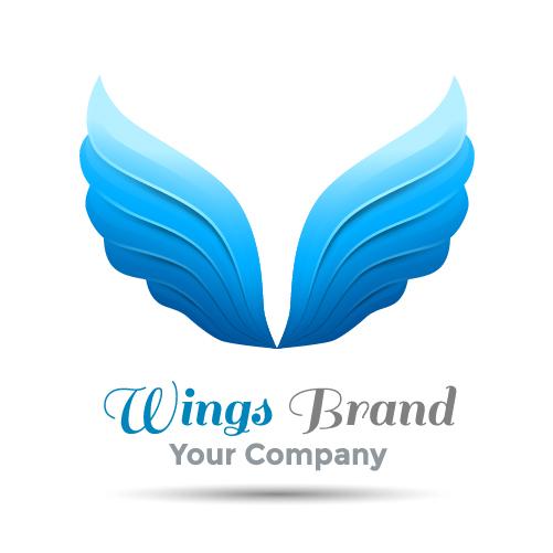Wings brand logo vector