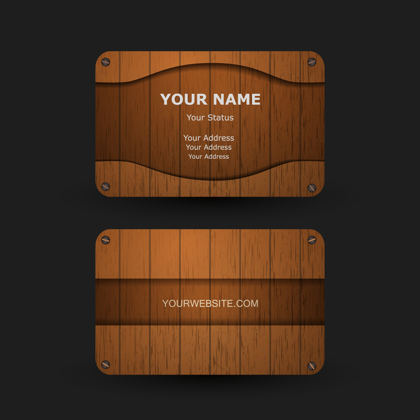 Wooden business card with transparent glass vector 01 vector wooden business card with transparent glass vector 01 reheart Images
