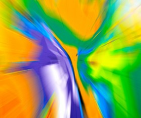 Yellow Inclusion Purple Blue Green Abstract Background