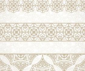 beige decor pattern borders vector