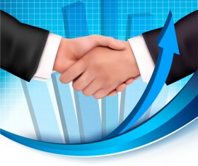 handshake with business background vector 02
