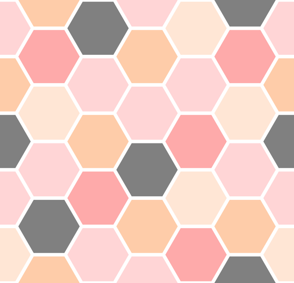 hexagon pattern seamless vector set 02 - Vector Pattern ...