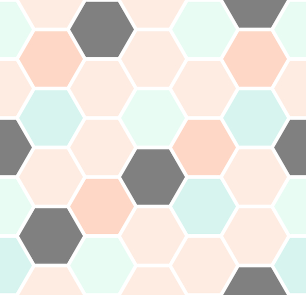 hexagon pattern seamless vector set 04 - Vector Pattern ...