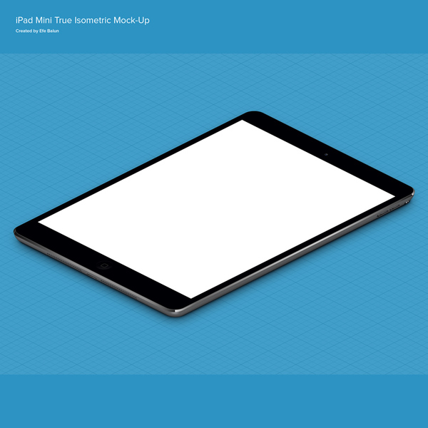 iPad Mini Mock up PSD template