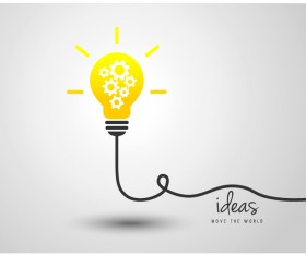 light bulb with ideas vector template 02