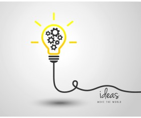 light bulb with ideas vector template 03